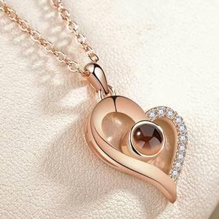 Náhrdelník Heart Memory-Zlatá