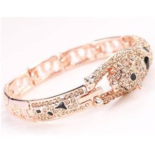 Náramok Leopard-Zlatá/Ružová