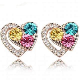 Náušnice Lovely Heart-Multi