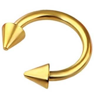 5x Piercingova náušnica Spike-Zlatá/Typ2