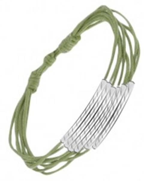 Zelený šnúrkový multináramok s ryhovanými valčekmi S10.08