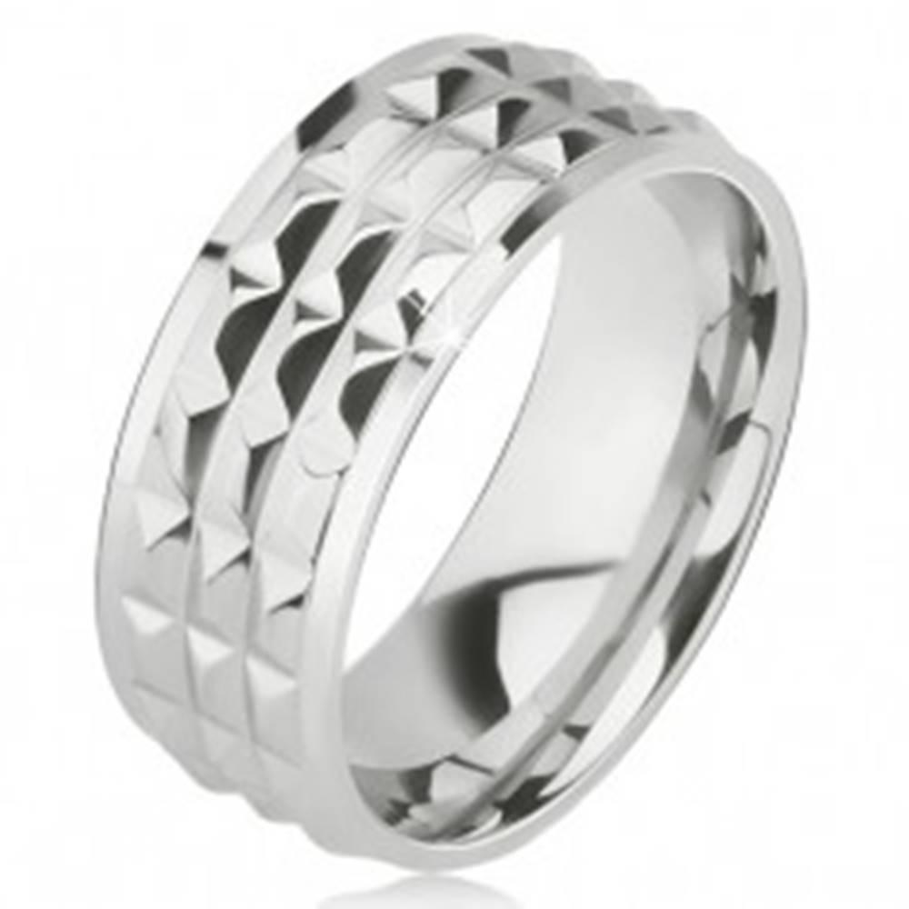 Lesklý oceľový prsteň - obr...