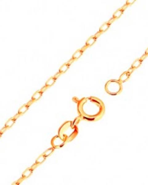 Retiazka v žltom 9K zlate - hladké oválne očká, vzor Rolo, 500 mm GG171.06