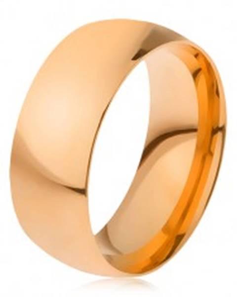 Obrúčka z ocele 316L zlatej farby, lesklý hladký povrch, 8 mm H16.15 - Veľkosť: 56 mm