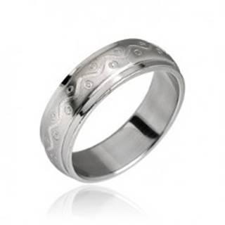 Oceľový prsteň vzor vlnka s bodkami D9.9 - Veľkosť: 49 mm