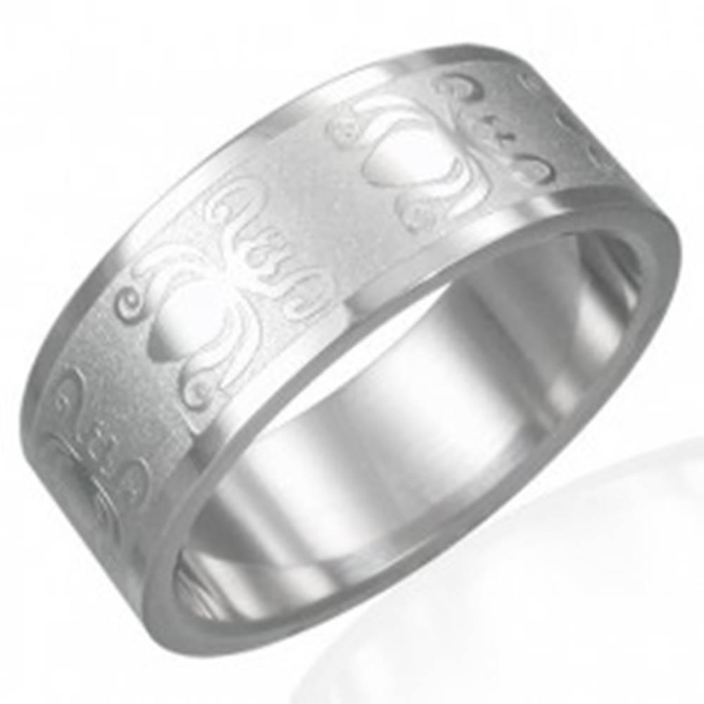 Prsteň z ocele 316L s leskl...