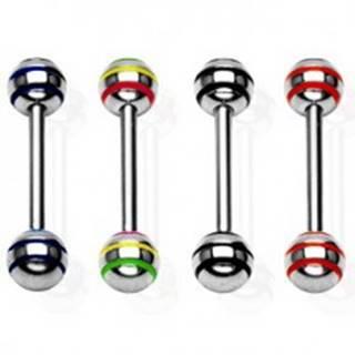 Piercing jazyka s veľkými gulôčkami - Farba zirkónu: Červená - R
