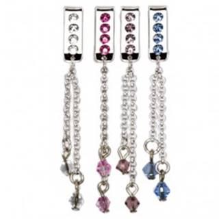 Šperk na plavky - visiaca retiazka so zirkónom G9.23 - Farba zirkónu: Aqua modrá - Q