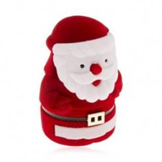 Zamatová krabička na prsteň, červeno-biela postava Mikuláša Y26.3