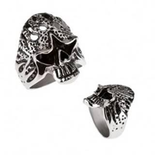 Mohutný prsteň z chirurgickej ocele - horiaca lebka BB3.12 - Veľkosť: 59 mm