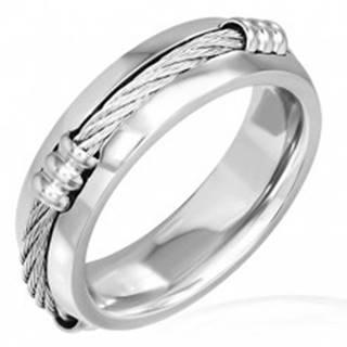 Prsteň z ocele s keltským lanom a zníženými okrajmi - Veľkosť: 57 mm