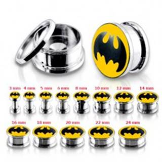 Oceľový tunel plug do ucha, Batman - Hrúbka: 10 mm