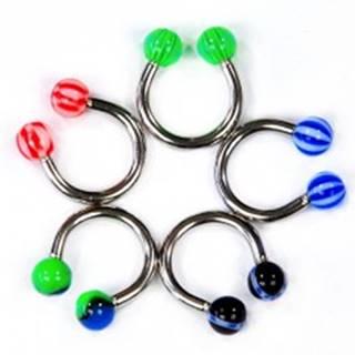 Piercing podkova - mix farieb a vzorov - Dĺžka piercingu: 11 mm