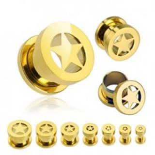 Tunel do ucha - hviezda v zlatej farbe - Hrúbka: 10 mm