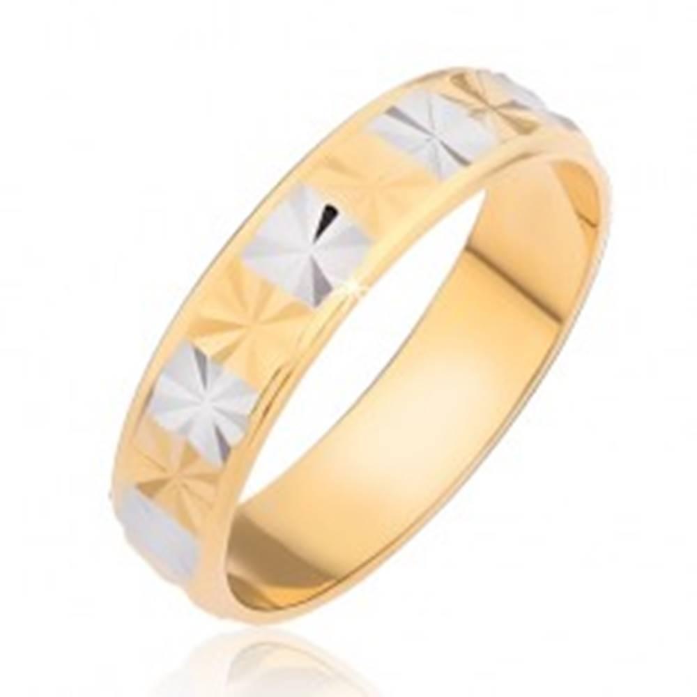 Lesklý prsteň - obdĺžniky s...