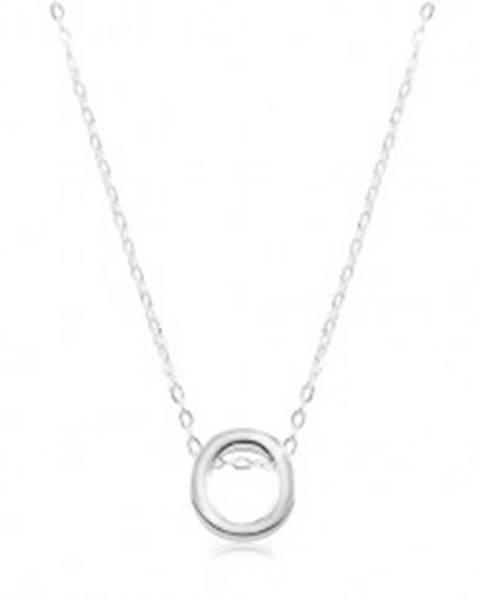 Nastaviteľný náhrdelník, striebro 925, veľké tlačené písmeno O