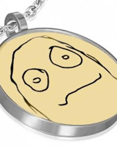 Prívesok MEME FACE z ocele - AMENABLE