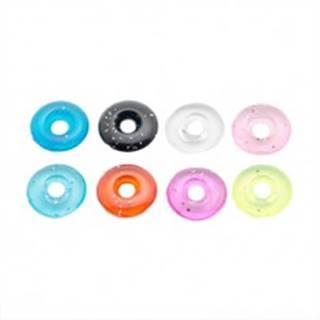 Farebné koliesko z akrylu s trblietkami - prívesok na piercing - Farba: Čierna