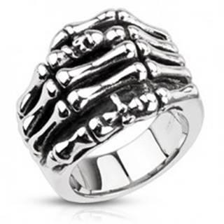 Prsteň z ocele - kostra ruky - Veľkosť: 59 mm