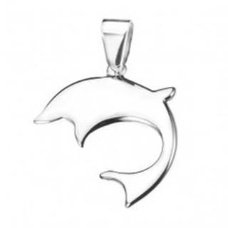 Oceľový delfín - lesklý prívesok