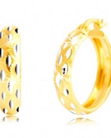Okrúhle náušnice v 14K zlat...