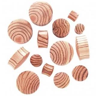 Plug do ucha zo zebrového dreva, sedlový - Hrúbka: 10,5 mm