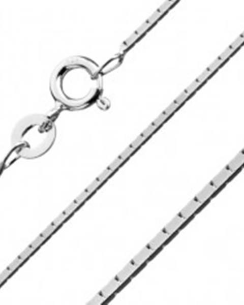 Strieborná štvorhranná retiazka 925 - spojené obdĺžniky, 0,8 mm