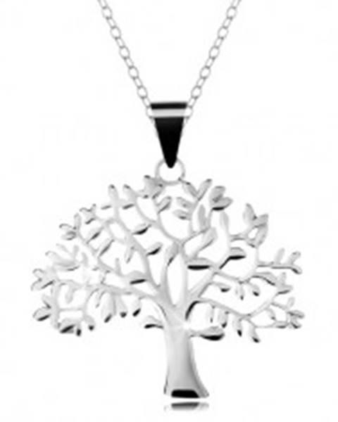 Strieborný 925 náhrdelník, retiazka a prívesok - veľký košatý strom života