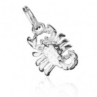 Prívesok zo striebra 925 - lesklý škorpión