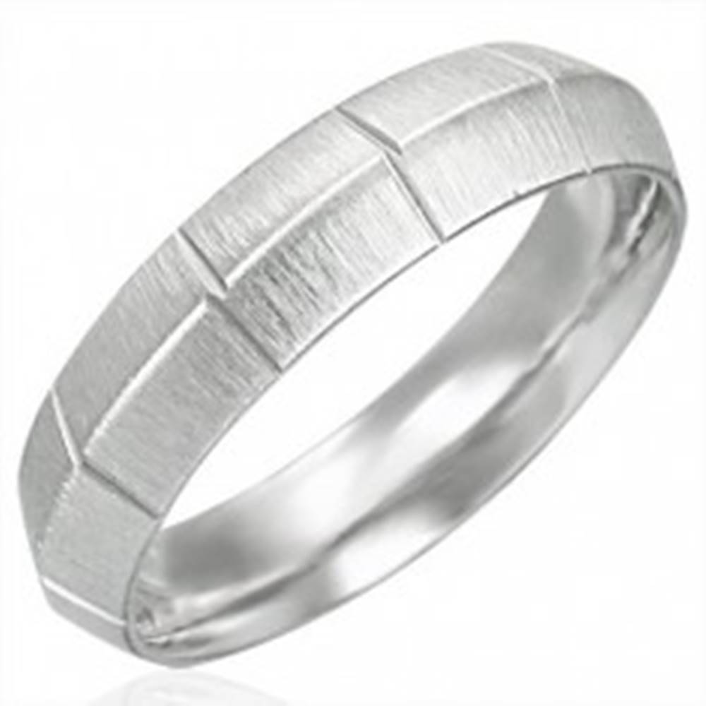 Dámsky oceľový prsteň matný...