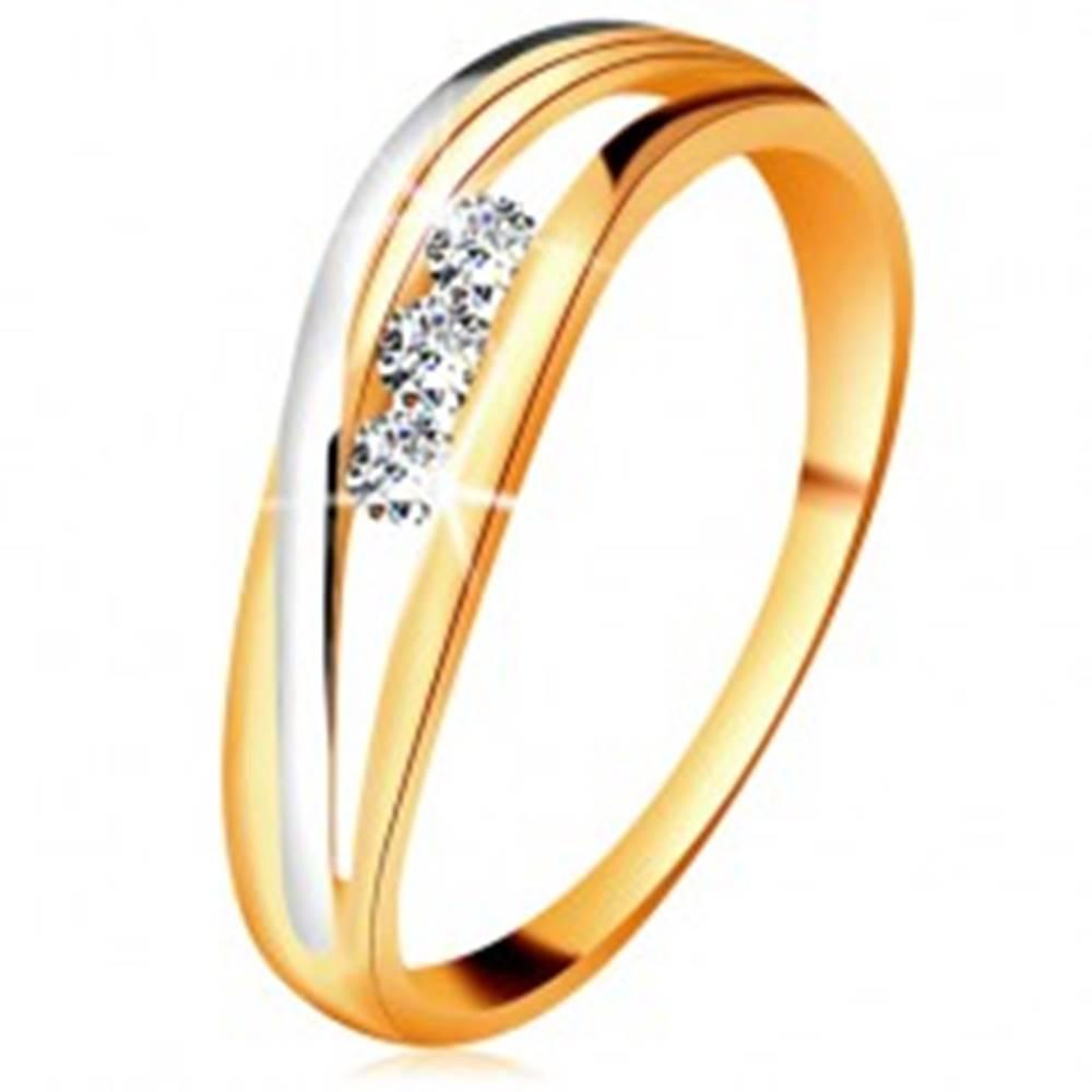 Briliantový prsteň zo 14K z...