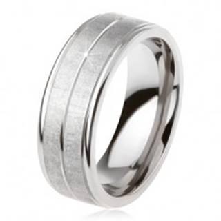 Titánový prsteň striebornej farby, matný povrch, zárez uprostred SP29.28 - Veľkosť: 54 mm