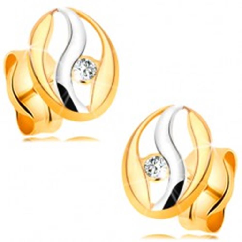 Diamantové náušnice v 14K z...