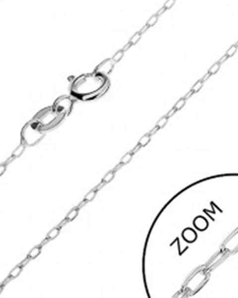Retiazka zo striebra 925 - úzke skosené očká, 1 mm