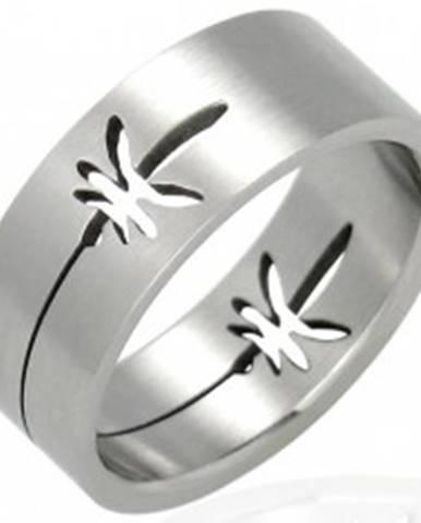 Oceľový prsteň lístky marih...