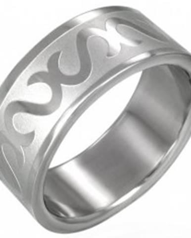 Prsteň z chirurgickej ocele - obrátené S D12.11 - Veľkosť: 54 mm