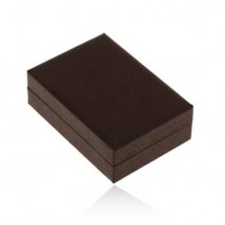 Darčeková krabička na náušnice, tmavohnedá imitácia dreva, jemné čierne zárezy