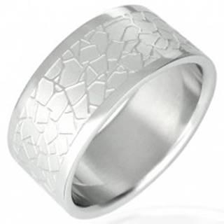 Oceľový prsteň - nepravidelný dlaždicový vzor D11.17 - Veľkosť: 51 mm