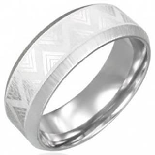 Oceľový prsteň so skosenými hranami - Triangel - Veľkosť: 54 mm