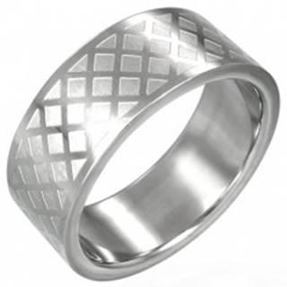 Prsteň z chirurgickej ocele - mriežka D11.15 - Veľkosť: 59 mm