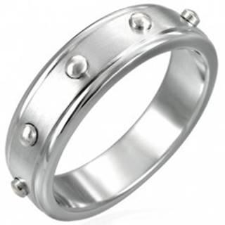 Prsteň z chirurgickej ocele - vypuklé valčeky D12.14 - Veľkosť: 51 mm
