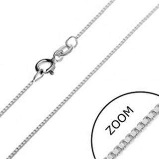 Strieborná retiazka 925 - husto prepojené prázdne kocky, 0,85 mm