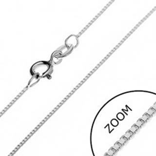 Strieborná retiazka 925 - kolmo prepojené prázdne kocky, 0,7 mm