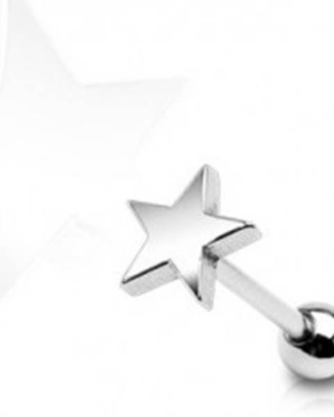 Piercing do jazyka Vojenská hviezda