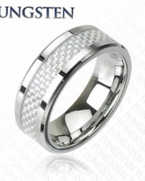 9e8636349 Wolfrámový prsteň - vzor vlákno J3.4 - Veľkosť: 49 mm značky ŠPERKY ...
