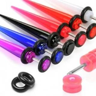 Fake expander z UV akrylu - Farba piercing: Biela