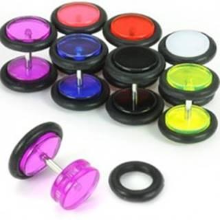 Fake UV plug do ucha - Farba piercing: Biela