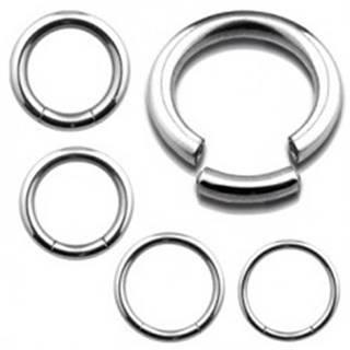 Piercing z nehrdzavejúcej ocele - hladký lesklý krúžok, strieborná farba - Rozmer: 1,2 mm x 10 mm