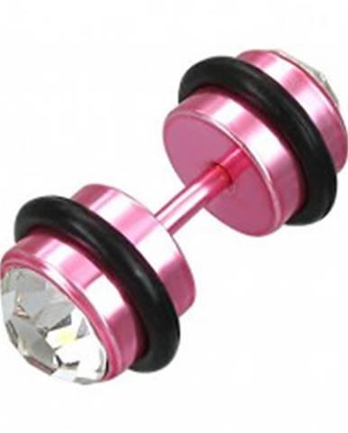Falošný piercing ružový so zirkónmi N4.5