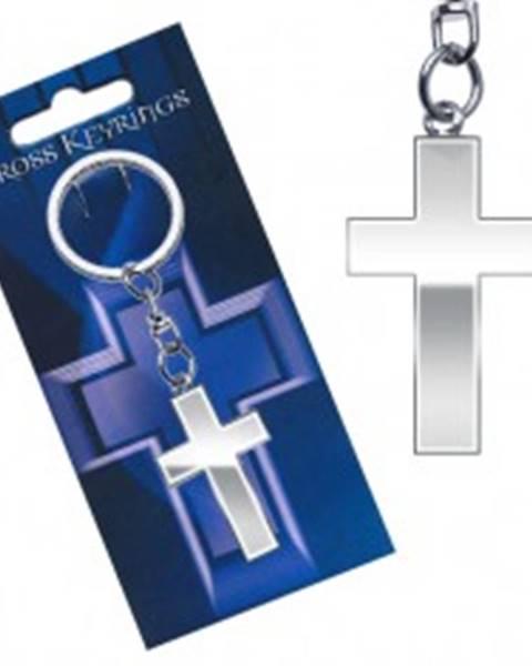 461d5e272 Kovový prívesok na kľúče - lesklý latinský kríž AC3.27 značky ŠPERKY ...